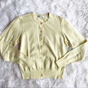44e7e469d70 CAbi Sweaters   Style 277 Yellow Sunny Cardigan O0636   Poshmark